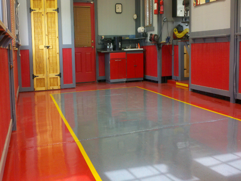 Mechanic Garage Flooring in Denver -Zenith Painting and Coatings