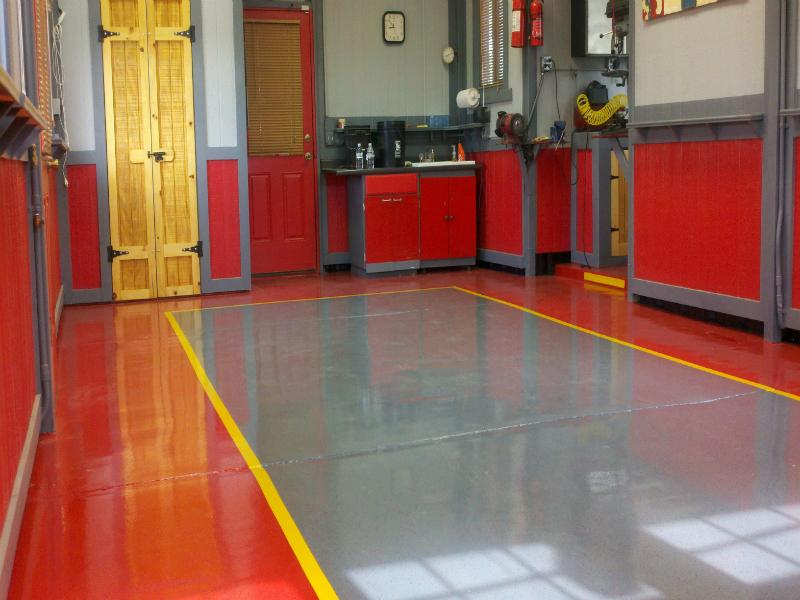 Mechanic Garage Flooring in Denver -Zenith Painting and Coatings